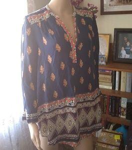 Beautiful Lucky Brand boho tunic top